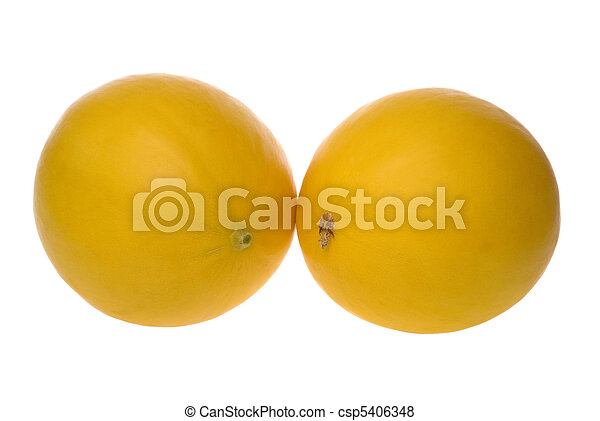 Golden Lady Melons Isolated - csp5406348