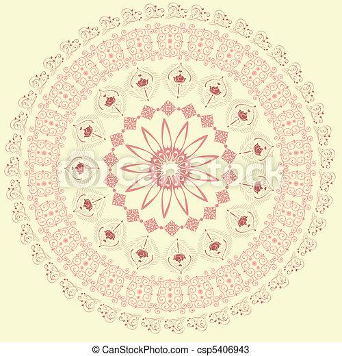 abstract circular pattern of arabesques - csp5406943