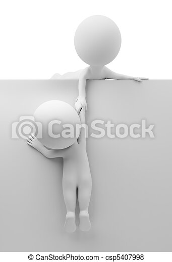 3d small people - help to the friend - csp5407998