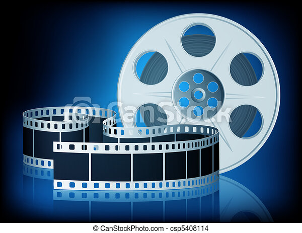 Twisted film for movie. Vector Illustration. - csp5408114