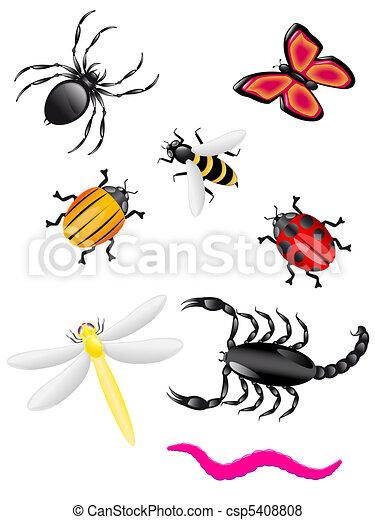 Stock illustration käfer insekten farben stock illustration