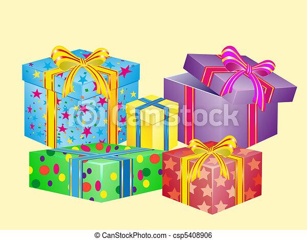 Stock de Ilustracion de mucho, Cajas, regalos, Ilustración ...
