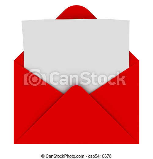 Envelope with blank letter - csp5410678