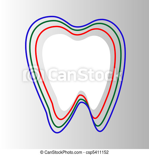 Tooth In Circle protection Isolated - csp5411152