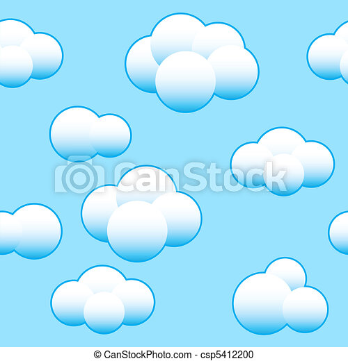 Abstract light blue sky background - csp5412200