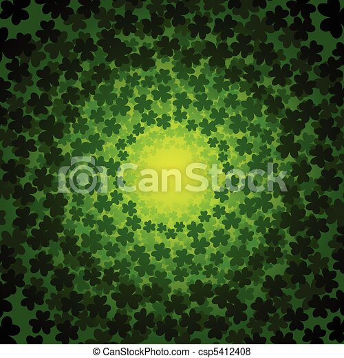 Swirly clover background - csp5412408