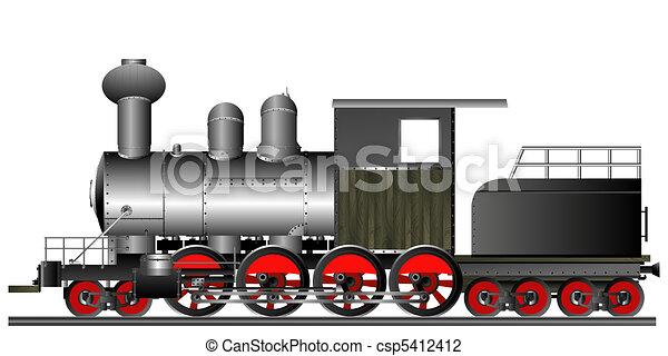Old style locomotive - csp5412412