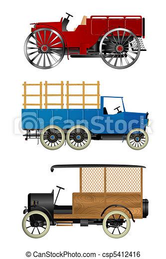 Old trucks - csp5412416