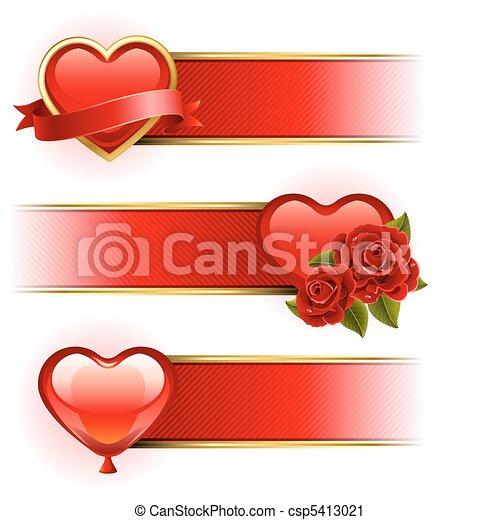 Valentine's Day  banners - csp5413021