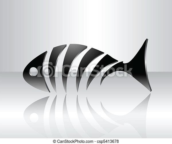Decorative fish skeleton - csp5413678