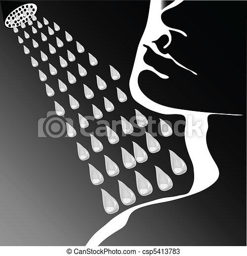 Face shower water - csp5413783