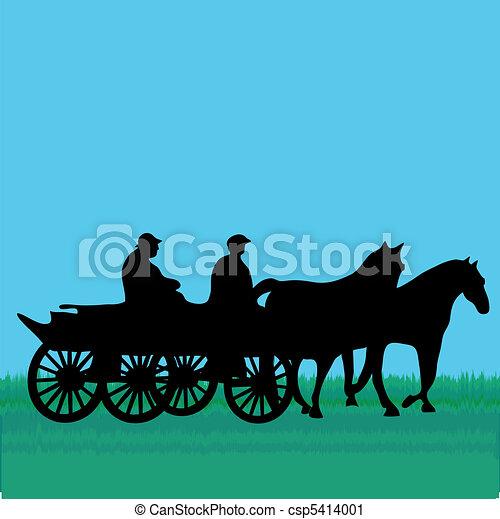clip art vecteur de cheval voiture gens csp5414001 recherchez des images graphiques. Black Bedroom Furniture Sets. Home Design Ideas