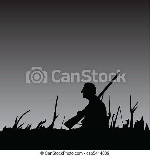 Hunter in the Night - csp5414009