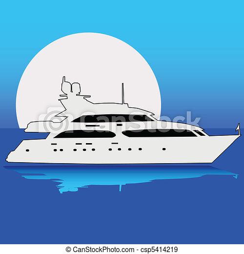 Yacht on the moon - csp5414219