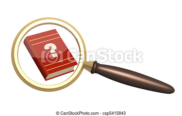 Books and loupe - csp5415843