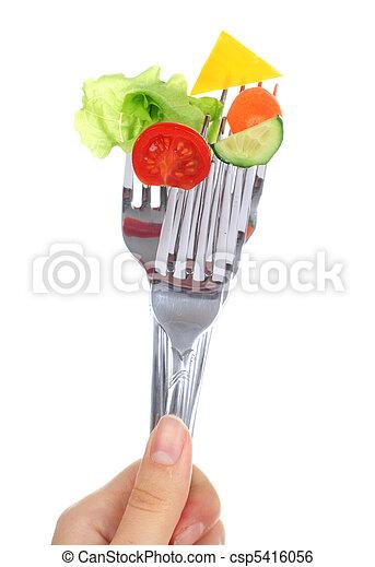 Vegetables on forks. - csp5416056