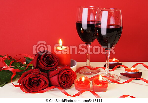 Romantic Candlelight Dinner Concept - csp5416114