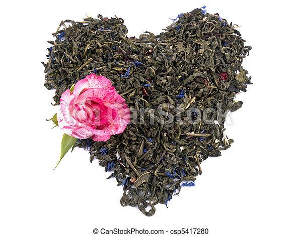 Aromatic green tea - valentine heart - csp5417280