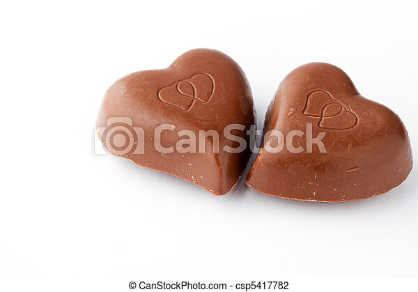 Chocolate hearts for Valentine's day - csp5417782