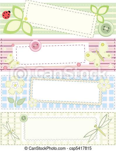 patchwork, Bandiere, vettore, collezione - csp5417815