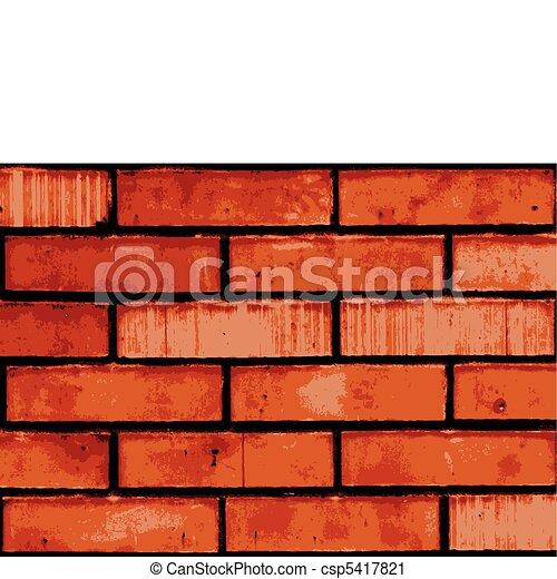 Vector Clip Art of Vector brick wall - Vector texture of old brick ...