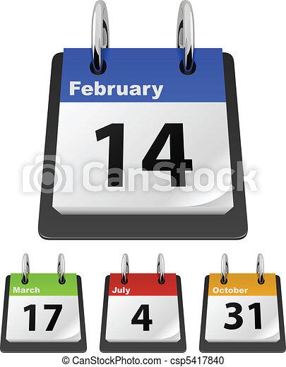 Calendar template - csp5417840