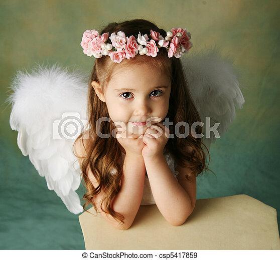 Little Angel Girl - csp5417859