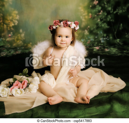 Sweet baby girl angel - csp5417883