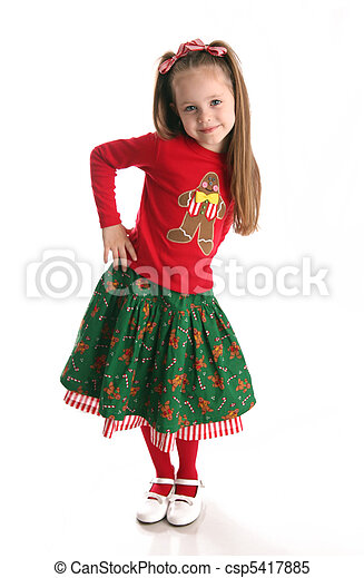 Christmas holiday girl - csp5417885