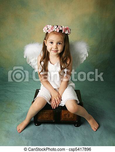 Little Angel Girl - csp5417896