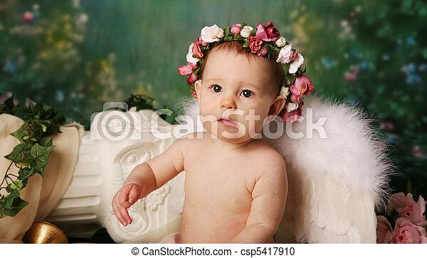 Little Angel Girl - csp5417910