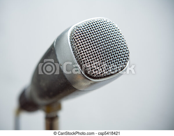 microfone, retro - csp5418421