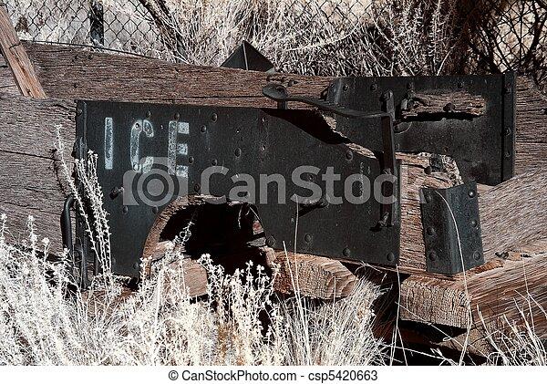 Wooden Ice Wagon - csp5420663