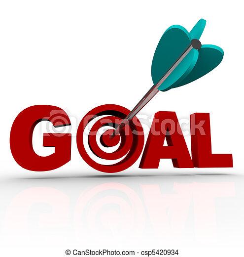 Goal Word - Arrow in Target - csp5420934