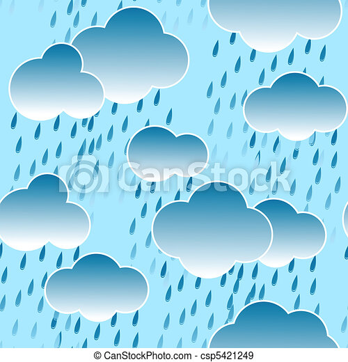 Background with clouds and rain drops - csp5421249