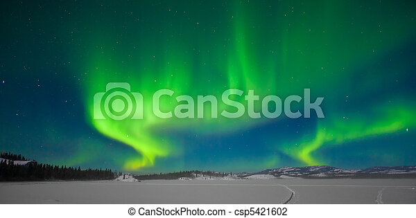 Northern Lights (Aurora borealis) - csp5421602