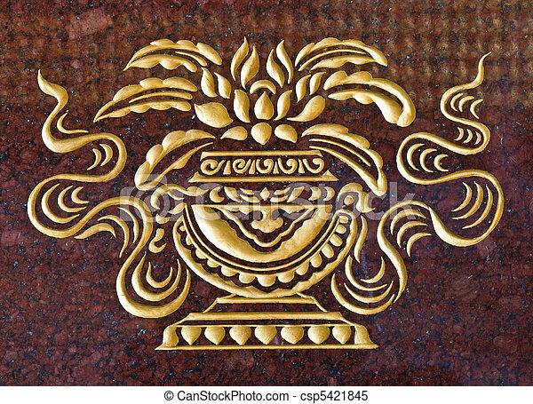 stock bilder von marmor schnitzen gold farbe tempel wand csp5421845 suchen sie fotos. Black Bedroom Furniture Sets. Home Design Ideas