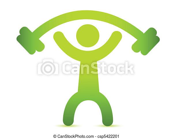 Man lifting weight - csp5422201