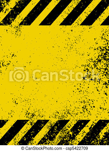 A grungy and worn hazard stripes te - csp5422709