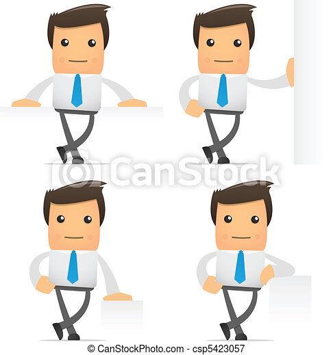 set of funny cartoon manager - csp5423057