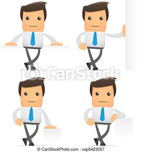set of funny cartoon manager - csp5423057