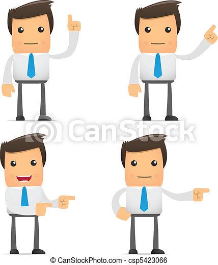 set of funny cartoon office worker - csp5423066