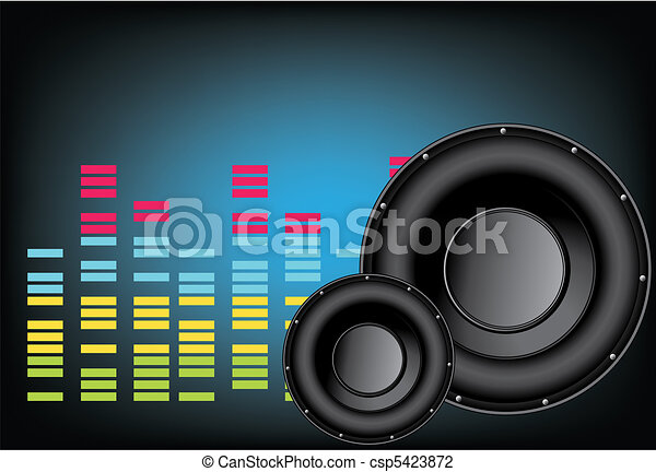 music speaker background  - csp5423872