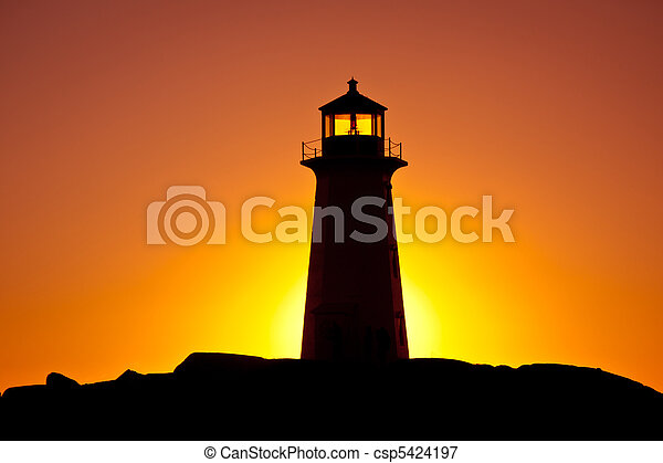 Peggys Cove Lighthouse - csp5424197