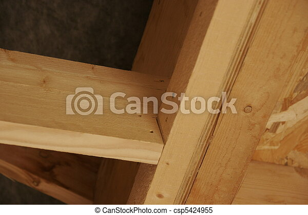 part of a wood house construction - csp5424955