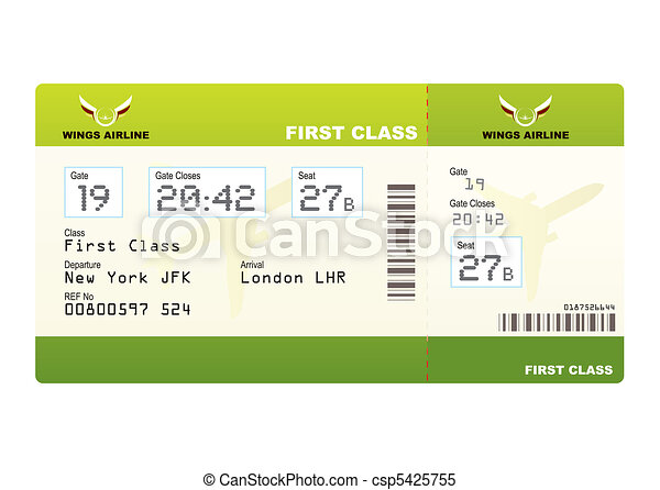 Plane ticket first class green - csp5425755