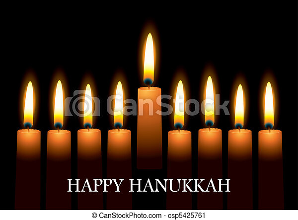 Hanukkah candles - csp5425761