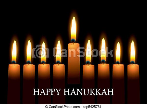 Hanukkah candles - csp5425761