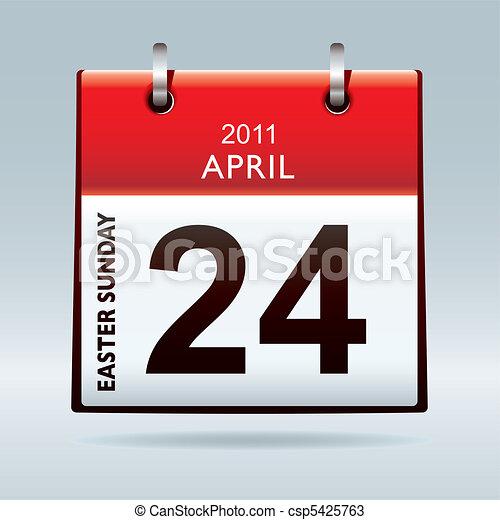 Sunday Calendar Clipart
