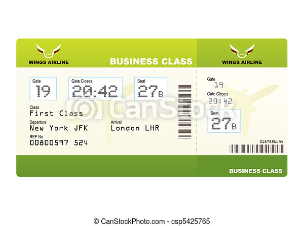 plane tickets business class green - csp5425765
